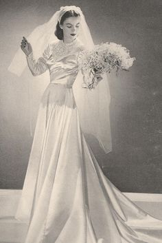 1930's Bride. ♥ Like the really long really simple skirt.