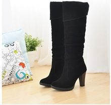 2016 new fashion women boots high heel boots long boots winter discount shoes over the knee high boots size 34-41 free shipping(China (Mainland))