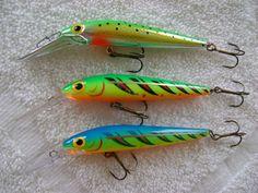 Thunderstick crank baits for salmon.