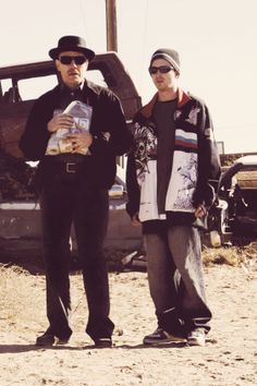 Breaking Bad, Walter White (?) and Jesse Pinkman (Aaron Paul). Great tv show, photo