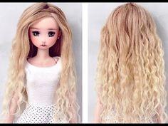 [206pro]Tutorial - Yarn doll hair for crochet doll (Part 1-Making hair) - YouTube