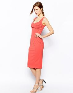 Enlarge ASOS Pencil Dress With Bow Bust Detail