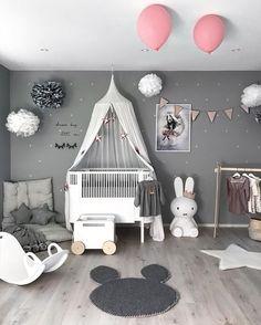❤best 45 minimalist kids bedroom ideas to inspire you today 38 Baby Bedroom, Baby Boy Rooms, Little Girl Rooms, Baby Room Decor, Girls Bedroom, Nursery Decor, Playroom Decor, Bedroom Ideas, Nursery Room Ideas