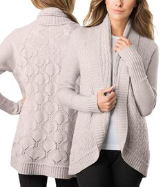 Celeste Ladies' Wool/Cashmere Circular Cardigan - Sand