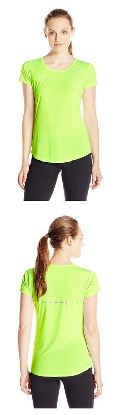 $11.75 - New Balance Women's Accelerate Short Sleeve Shirt Toxic #newbalance
