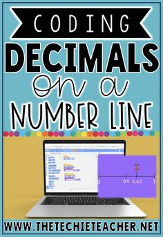 Students investigate decimals on a number line as they use Scratch to code a sprite's movement on a number line between 0 and Google Classroom, Math Classroom, Future Classroom, Teaching Math, Teaching Ideas, Coding For Beginners, Math Magic, Coding For Kids, 7th Grade Math