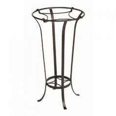 Achla Designs FB-20 Tulip Plant Stand  The graceful lines and roman bronze powder coat of our wrought iron plant stand will accent any interior. The stand has 2 shelves and a removable insert which will also accommodate our 16-inch ceramic birdbaths. The stand is 28-inch tall and 15-1?2-inch diameter.