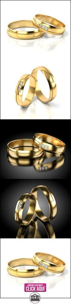 Anillos De Boda Oro amarillo 750_S-703_D  ✿ Joyas para hombres especiales - lujo ✿ ▬► Ver oferta: https://comprar.io/goto/B01DRC0S3G