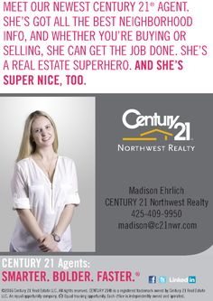 Meet out newest Century 21 Northwest Realty agent: Maddie Ehrlich