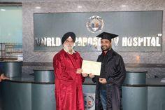 Dr. MVS Kiran Kumar receiving certificate of  Endoscopy at World Laparoscopy Hospital. For more detail please log on to www.laparoscopyhospital.com