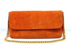 #3078 Celine 2012 Gourmette Gold Chain Bag-Orange