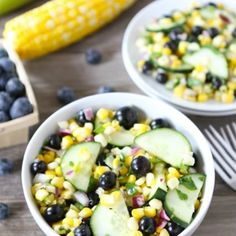 Blueberry Corn Salad.  This will be lovely, come summer.