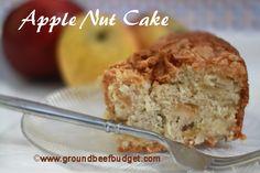 Apple Nut Cake Recipe from groundbeefbudget.com