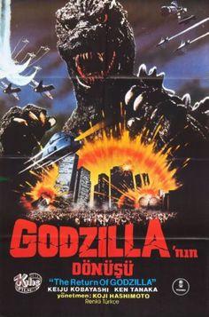 Vintage Retro Reproduction Movie A3 Godzilla 1984 v4 Cult Monster Film Print | eBay