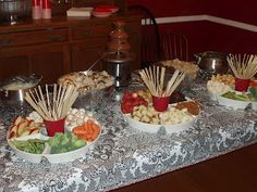 Wooden skewers for Fondue Party http://lifefrosting.blogspot.ca/2008/02/fondue.html