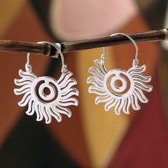 96159b092 Aztec Sun Sterling silver hoop earrings Aztec and Maya Amber Jewelry,  Golden Jewelry, Gold