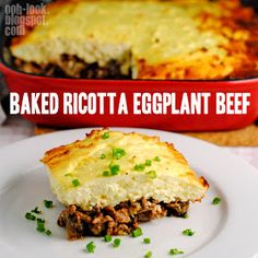 Ooh, Look...: Not-a-bake with ricotta eggplant beef