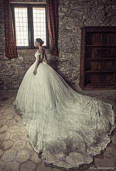 julia kontogruni 2017 bridal off the shoulder sweetheart neckline full embellishment princess ball gown wedding dress corset strap back royal train (4) bv