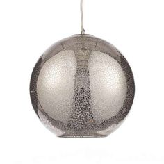 Crafted with a mottled effect in a grey tone, this spherical ceiling light pendant is made from glass, complete with an adjustable height feature....