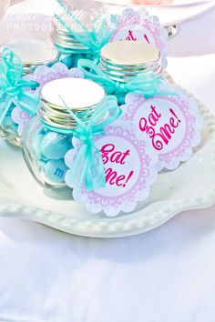 - Alice in Wonderland Party Favor Tags by Cutie Putti Paperie Alice in Wonderland Party, Mad Hatter Tea Party – Printable EAT ME TAGS – Cutie Putti Paperie – Cutie Putti Paperie Mad Hatter Party, Mad Hatter Tea, Mad Hatters, Party Favor Tags, Party Favors, Shower Favors, Wedding Favors, Wedding Dj, Party Party