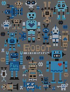 Robota en märkduk med ett stort gäng små robotar som du kan förgylla ditt liv med och som kanske kan få dig att fundera på om hur mycket tid robotarna stjäl av ditt liv.