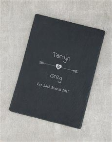 gifts: Personalised Arrow Date Slate Board!