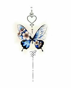 Girly Tattoos, Little Tattoos, Pretty Tattoos, Cute Tattoos, Beautiful Tattoos, Small Tattoos, Tatoos, Butterfly Neck Tattoo, Butterfly Tattoos For Women