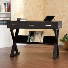 Southern Enterprises Saul Desk - Black