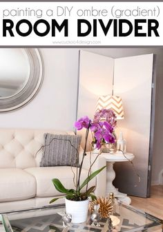 building and painting an ombre room divider