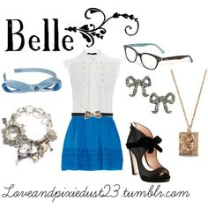 Belle, created by loveandpixiedust on Polyvore