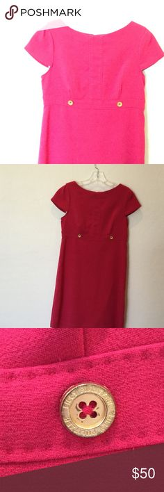 Lilly Pulitzer hot pink short sleeve dress! Adorable hot pink short sleeve Lilly dress 💕 bought gently used and never wore it! Want to sell it to someone who will wear the gorgeous dress and love it like I do! EUC, no flaws and authentic Lilly Pulitzer. Would also fit a size 4 :) Lilly Pulitzer Dresses