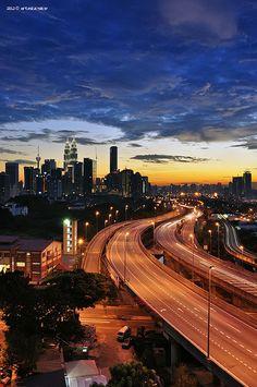 and the blues is taking over  Kuala Lumpur, Malaysia