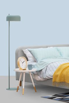 The Bridget Floor Lamp is small and compact, making it ideal to place beside your bed to shine just the right amount of light. Its playful design and matte finish adds a retro-chic element to your coz