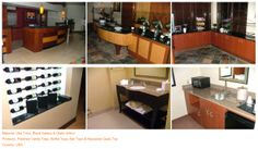 Project (2) Material: Uba Tuba, Black Galaxy & Giallo Antico Products: Polished Vanity Tops, Buffet Tops, Bar Tops & Reception Desk Top Country: USA