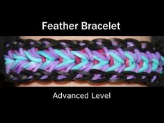 Rainbow Loom® Feather Bracelet - http://rainbowloomsale.com/rainbow-loom-feather-bracelet/