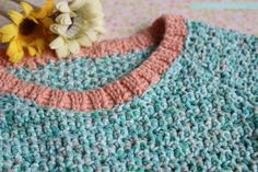 Pretty in Peach Pocket Dress | Free Crochet Pattern & Tutorial | Pasta & Patchwork