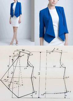 Elegant Photo of Custom Sewing Patterns - Custom Elegant Patterns Photo sewing Coat Patterns, Dress Sewing Patterns, Clothing Patterns, Pattern Sewing, Fashion Sewing, Diy Fashion, Fashion Outfits, Costura Fashion, Sewing Blouses