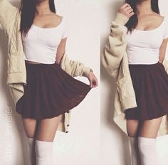 love skirts white red girl 