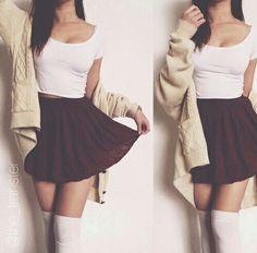 love|skirts|white|red|girl|