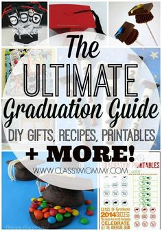 Graduation Inspiration: 25 Best Graduation Printables Recipes Crafts and Gift Ideas - Classy Mommy Graduation Crafts, Graduation Decorations, High School Graduation, Graduation Ideas, Graduation 2016, Grad Gifts, Diy Gifts, Merida, Graduation Celebration