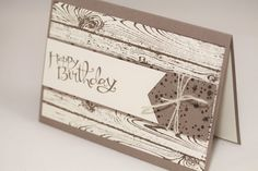 "Geburtstagskarte ""Rustikal"" - Stampin Up - Hardwood - Sassy Salutations - Aelidan bei DaWanda"