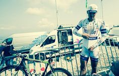 Not his natural territory - Marcel Kittel on top of Mont Ventoux