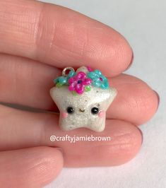 Today I have another Kawaii star charm with a beautiful headpiece. This one is part of my Twinkle & Twist Collection.   #polmerclay #polymerclaycharms #charms #miniature #miniaturesweethk #art #creative #cute #sculpey #premo #crafty #crafts #clay #handmade #madebyme #kawaii #headpiece #tiara #collection #jewelry #pendant #flowers #magical #unique #artist #etsy #etsyseller #colorful #stars