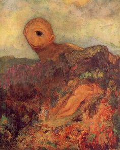 """20 April the French symbolist painter Bertrand-Jean, better known as Odilon Redon, was born in Bordeaux. Depicted below is Odilon Redon's """"Cyclops"""" Rijksmuseum Kröller-Müller, Otterlo, Netherlands Oil Painting On Canvas, Painting & Drawing, Canvas Art, Cave Painting, Art And Illustration, Odilon Redon, Ouvrages D'art, Post Impressionism, Oil Painting Reproductions"""