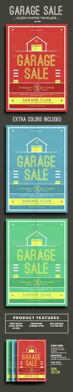 Garage Sale Flyer Template PSD, Vector AI. Download here: http://graphicriver.net/item/garage-sale-flyer/15450470?ref=ksioks