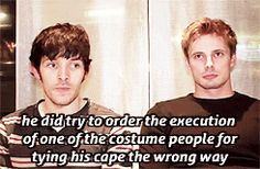 Merlin interview between Colin Morgan and Bradley James I <3 them.:)