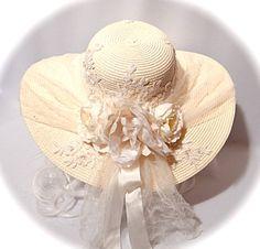 488e28d036c4a Cream Bridal Hat Wedding Accessories Derby Sun Hat Women s Hats BH-107