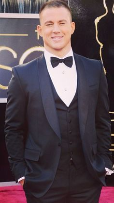 Channing Tatum. Oscar red carpet
