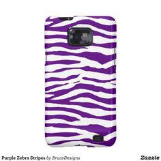 Purple Zebra Stripes Samsung Galaxy SII Case