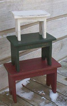 Primitive Bench Stacking Stool Pattern Plan WN111   eBay